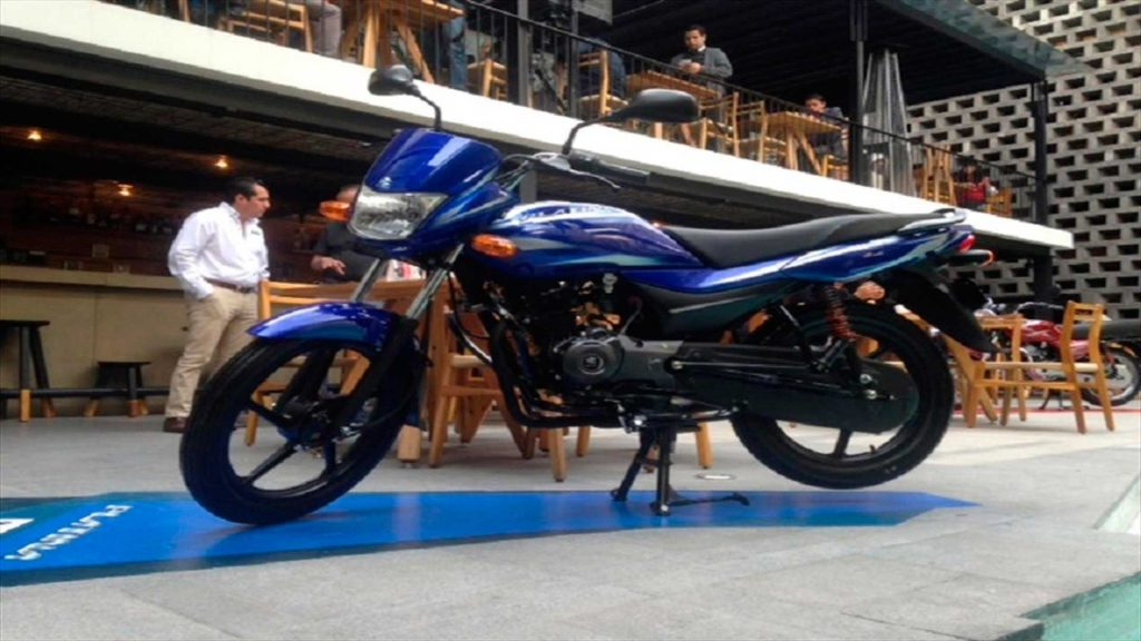 Bajaj Platino 100 color azul